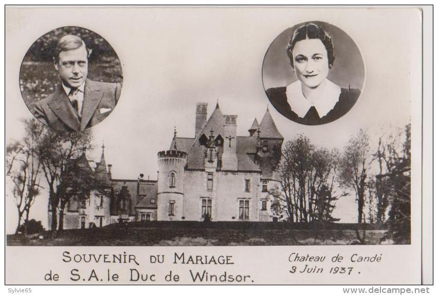 SOUVENIR DU MARIAGE De S.A.LE DUC DE WINDSOR-Chateau De CANDE-3 Juin 1937- - Royal Families