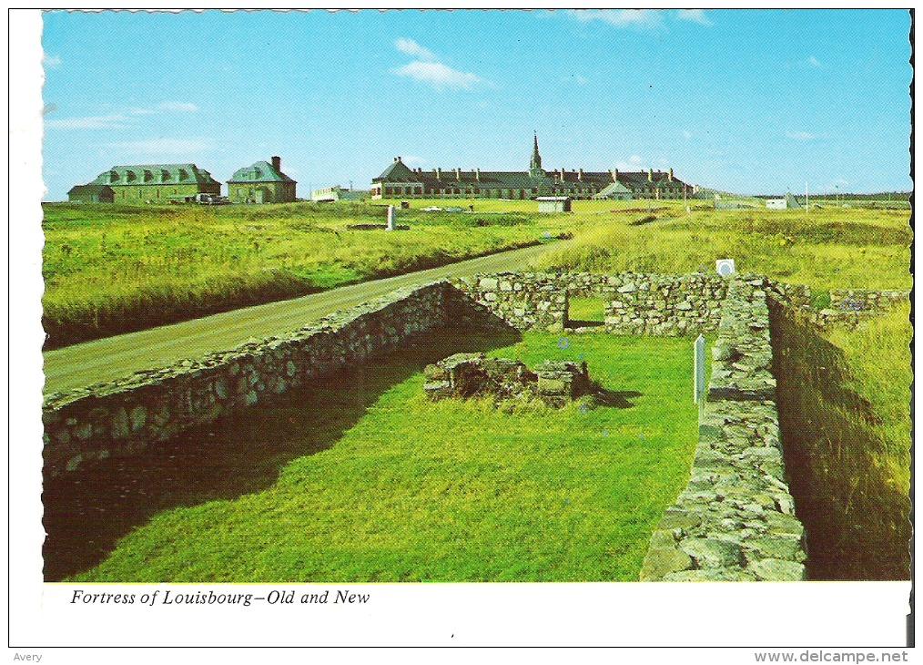 BR-327-C Fortress Of Louisbourg - Old And New, Nova Scotia - Cape Breton