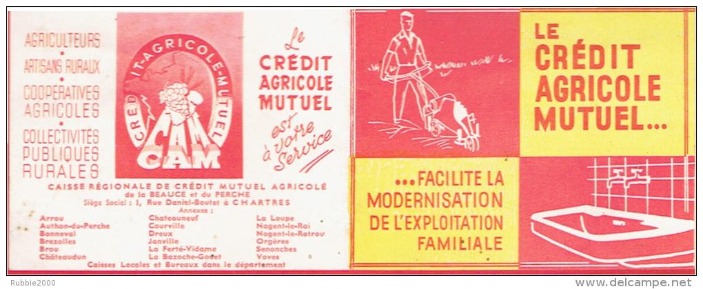 CALENDRIER 1955 CREDIT AGRICOLE MUTUEL DE LA BEAUCE ET PERCHE SIEGE SOCIAL A CHARTRES EN SUPERBE ETAT - Calendriers