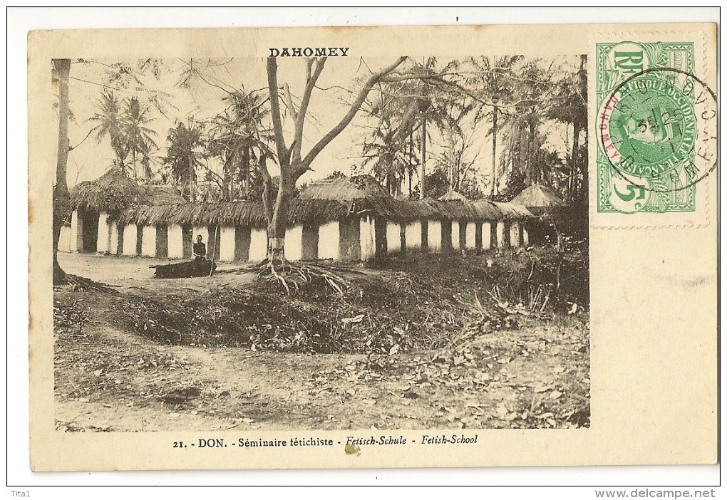 S1642 - Dahomey - 21 - Don - Séminaire Fétichiste - Dahomey