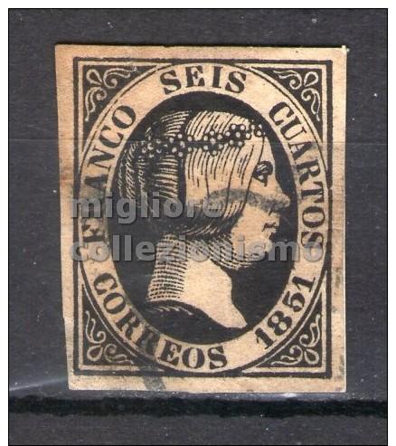 MC  1850  Espagne  6c Used  Y&T  6a - 1850-68 Kingdom: Isabella II