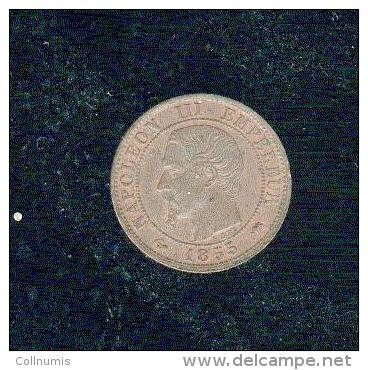 Jolie 1c Napoléon Tête Nue  Bronze  1855 D - A. 1 Centesimo