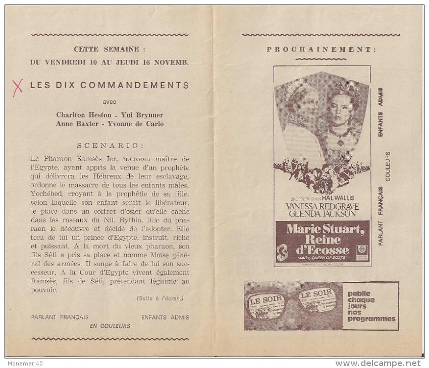CINE LEOPOLD PALACE (Bruxelles) -  Film 'LES DIX COMMANDEMENTS´ (1956) Et Autres. - Cinema Advertisement