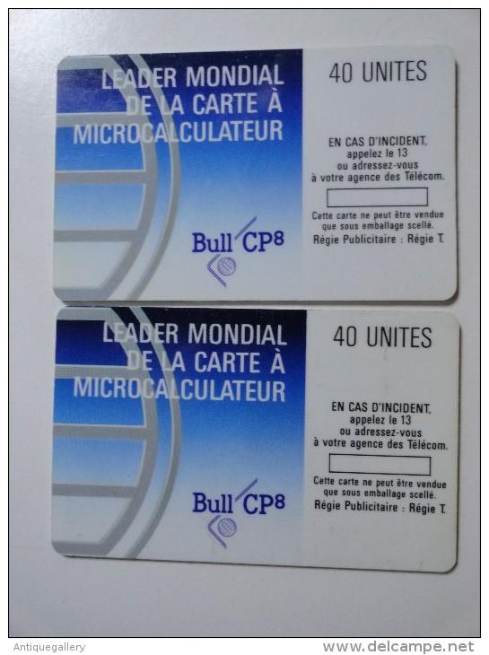 VERY RARE : COULEUR SUR : LA PAIRE DE  BULL CP8 MINT CARDS ISSUE 2000EX - Variëteiten
