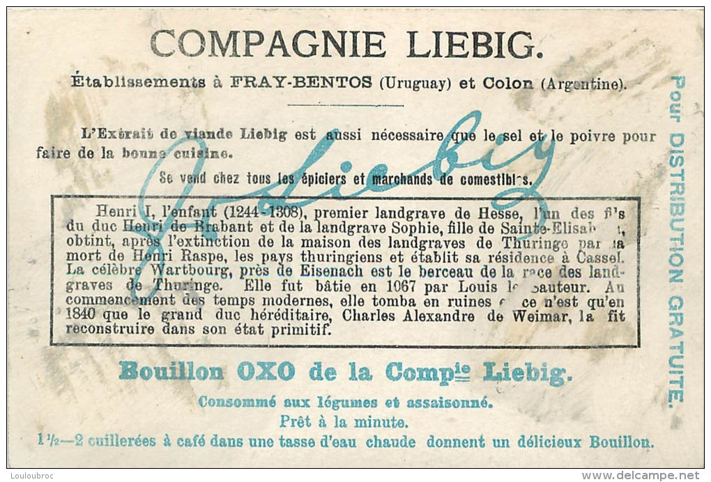 CHROMO LIEBIG BERCEAUX DYNASTIQUES - Liebig
