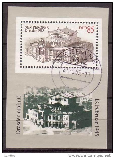 DDR , 1985 , Block , Mi.Nr. 80 ( 2928 ) O / Used - DDR