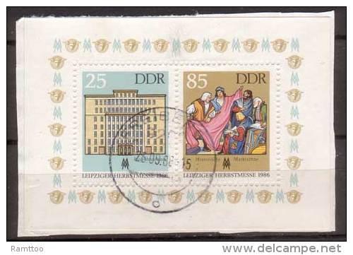 DDR , 1986 , Block , Mi.Nr. 85 ( 3038 / 3039 ) O / Used Auf Papier - Blocks & Kleinbögen