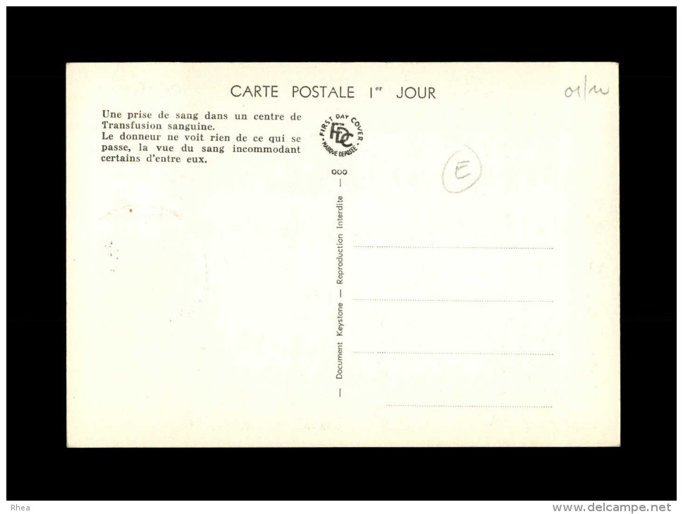 CARTE PREMIER JOUR - Donneurs De Sang - Don Du Sang - Santé - Cartes-Maximum