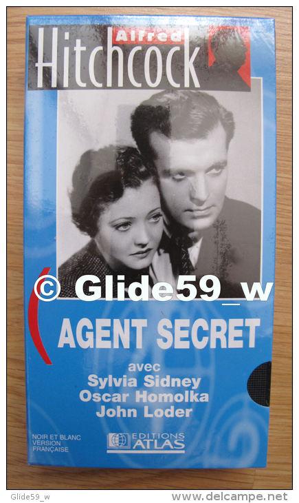 Alfred Hitchcock - Agent Secret - K7 Vidéo VHS Noir & Blanc - Version Française (Ed. Atlas) - Neuve - Action, Aventure