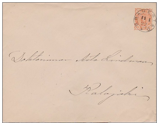 Finland; Postal Cover 1892 - Enteros Postales