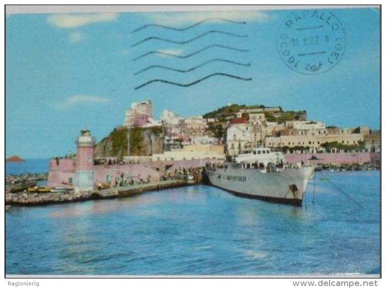 LATINA - Ponza - Scorcio Del Porto - Nave Traghetto - Faro - Phare - Lighthouse - Leuchtturm - Latina