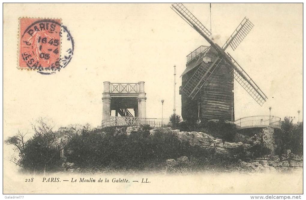 CPA Paris - Le Moulin De La Galette - Francia