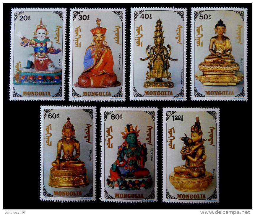 LE PANTHEON MONGOL DES DIEUX ET DEESSES 1991 - NEUFS ** - YT 1836/42 - MI 2269/75 - Mongolië