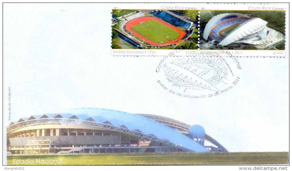 COSTA RICA   2011 FDC  National Stadium - Costa Rica