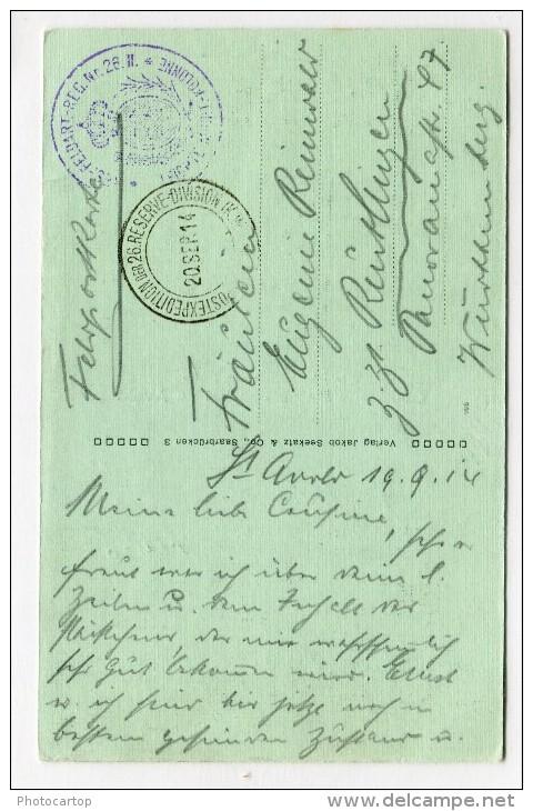 LA CHAMBRE-KAMMERN-Wirtschaft-Krämerei-Nikolaus BOUR-Cp Multivues-Periode Guerre 14-18-1WK-Frankreich-France-57-Feldpost - Saint-Avold