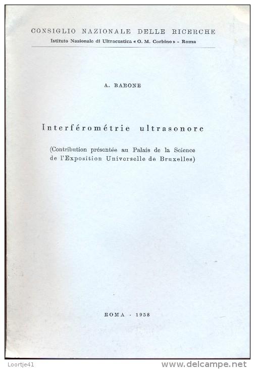 Magazine Revue Tijdschrift - Interférométrie Ultrasonore - A. Barone - Roma - Expo Brussel 1958 - Boeken, Tijdschriften, Stripverhalen