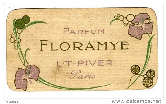 FLORAMYE L T PIVER  PARIS  -  AU DOS CALENDRIER 1914 - Vintage (until 1960)