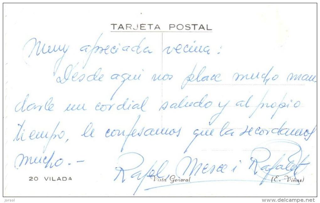 POSTAL    20.-  VILADA  -BARCELONA -CATALONIA -  VISTA GENERAL ( VUE GENERALE - GENERAL VIEW ) - Barcelona