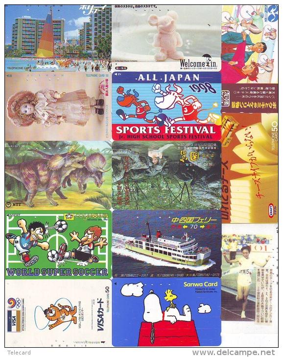 JOLI LOT Collection De + De 7000 TELECARTES Japon (LOT 583)  Thèmes Très Variés * 7000 Japan Phonecards Telefonkarten - Télécartes