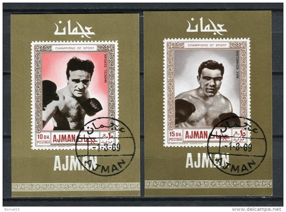 Ajman 1969. 2 Blocks Boxers Used. - Ajman