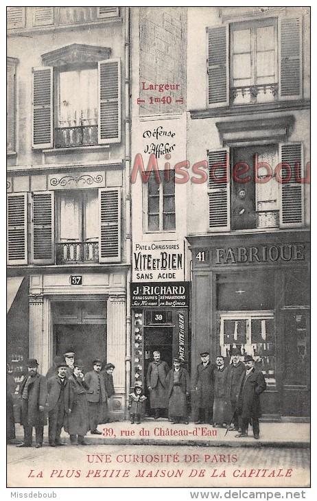 PARIS - UNE Curiosité De Paris - La Plus Petite Maison De La Capitale - A Curiosity Of Paris The Smallest House  2 Scans - Arrondissement: 10