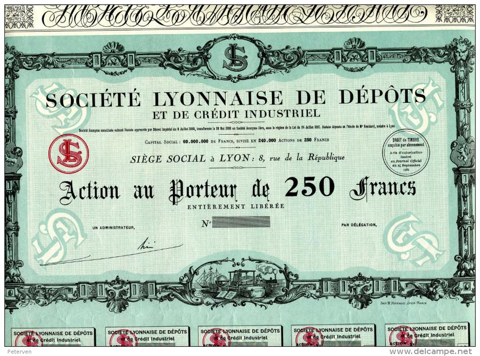 Société LYONNAISE De DÉPÔTS Et De CRÉDIT INDUSTRIEL - Bank En Verzekering