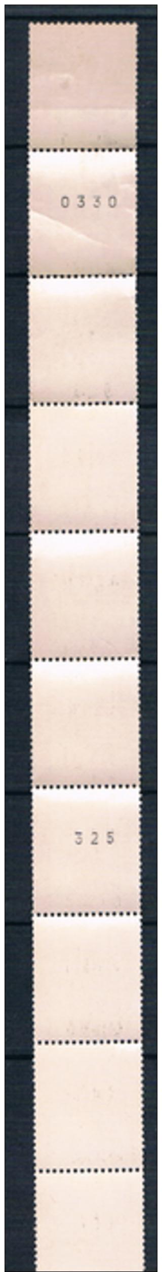 FRANCE  ROULETTE  De 11 Avec  2  N° Noir Au Verso - Roulettes