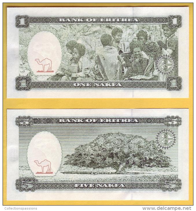 ERYTHREE - Lot De Billets De 1 Et 5 Nakfa. 24-05-1997. Pick: 1 Et 2. NEUF - Erythrée