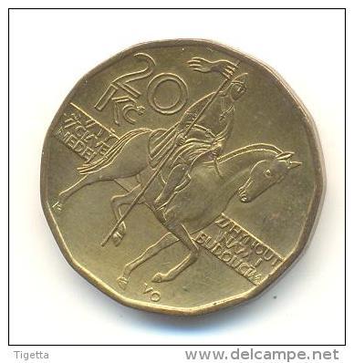 REPUBBLICA CEKA  20 KORUN  ANNO 1998 - Repubblica Ceca