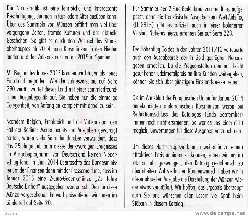 EURO-Katalog Deutschland 2015 Neu 10€ Münzen Für Numis-Briefe/Numisblätter Aktuelle Auflage Mit Banknoten Aller €-Länder - Literatura