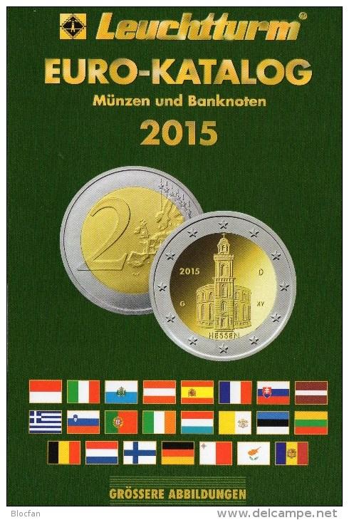 EURO-Katalog Deutschland+aller €-Länder 2015 New 10€ Münzen Für Numis-Briefe/Numisblätter Aktuell Book With Coins/notes - Phonecards