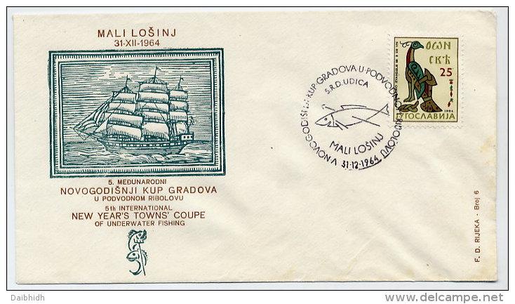 YUGOSLAVIA 1964 Commemorative Cover For Underwater Fishing Competition - 1945-1992 Socialist Federal Republic Of Yugoslavia