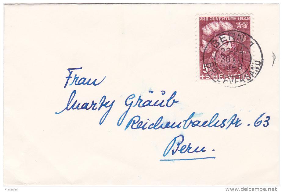 Pro-Juventute : Petite Lettre Oblitérée BERN Le 30.12.1949 - Pro Juventute