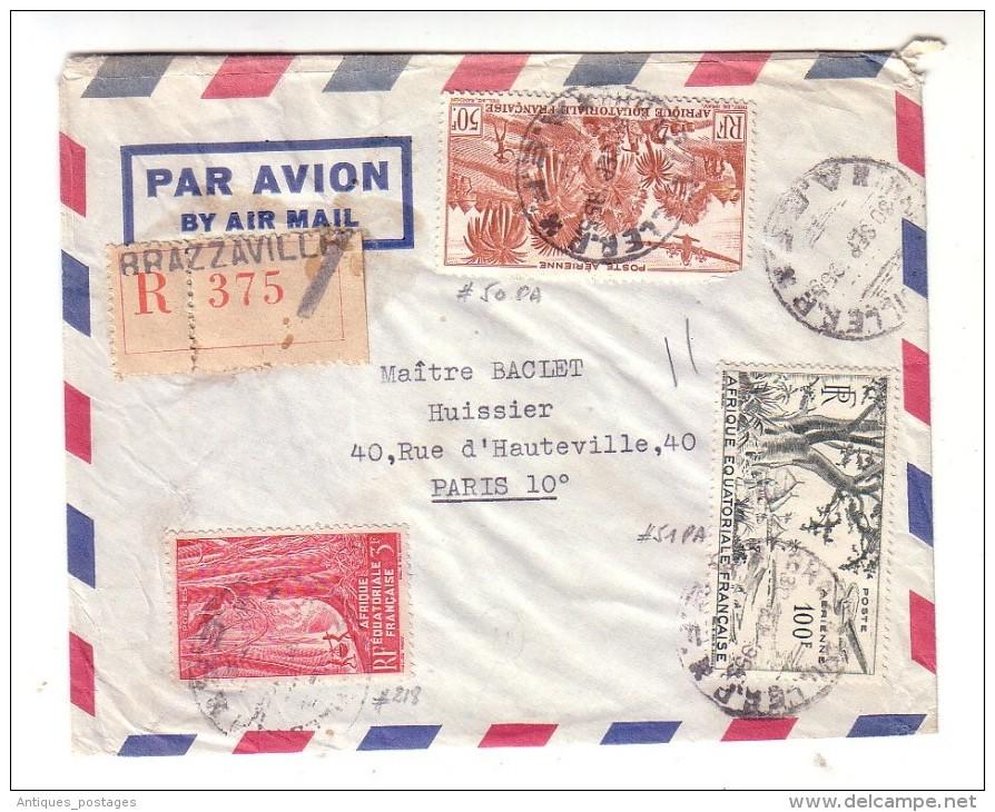 Lettre Recommandée Congo Brazzaville 1958 Avocats Omer Sarraut Claude Zevaco - Congo - Brazzaville