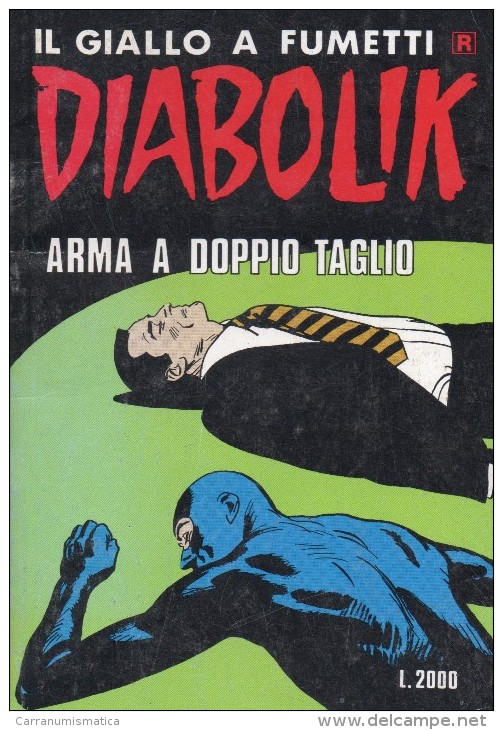 DIABOLIK N°406  ARMA A DOPPIO TAGLIO - Diabolik