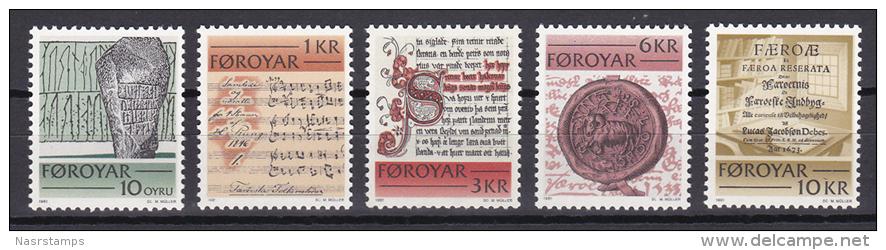 Faroe Islands - Foroyar - 1981 - ( Historic Writings ) - MNH (**) - Faroe Islands