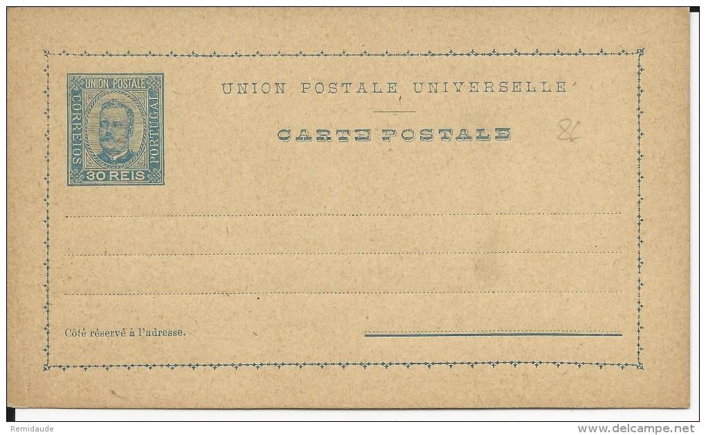 PORTUGAL - 1892 - CARTE ENTIER POSTAL NEUVE - Entiers Postaux