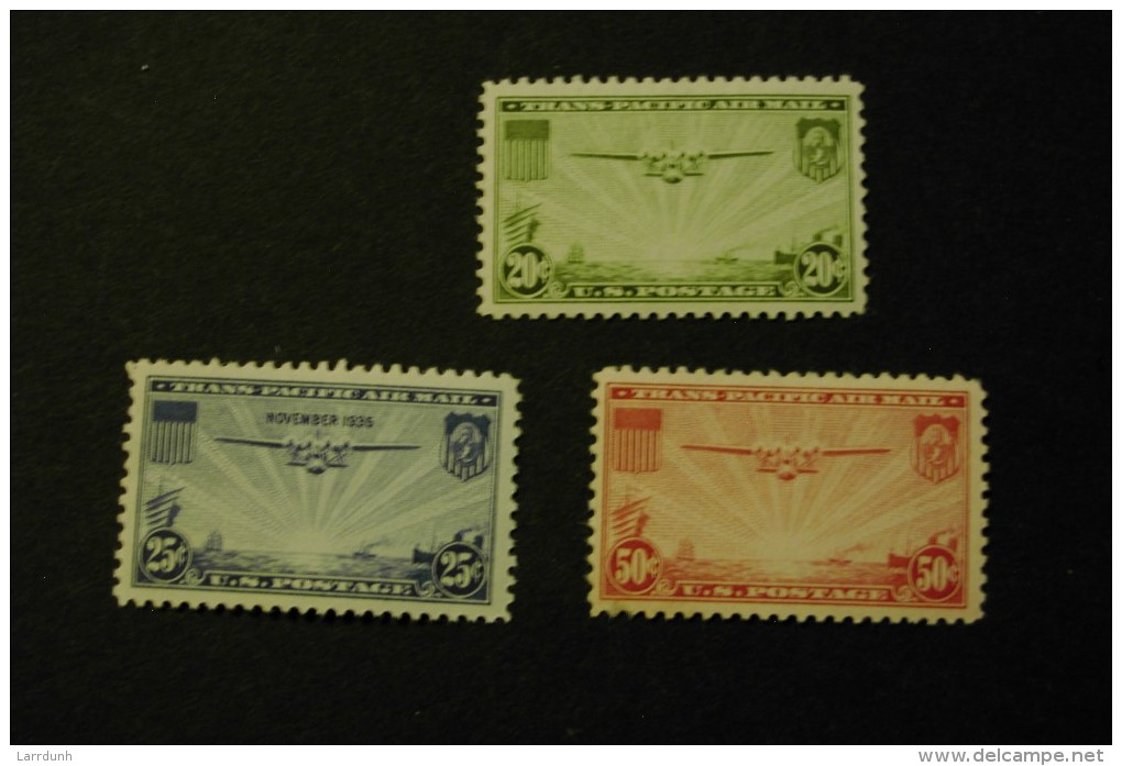United States C20-22 Transpacific Isssue Aircraft Airplanes MNH 1935-1937 A04s - Air Mail