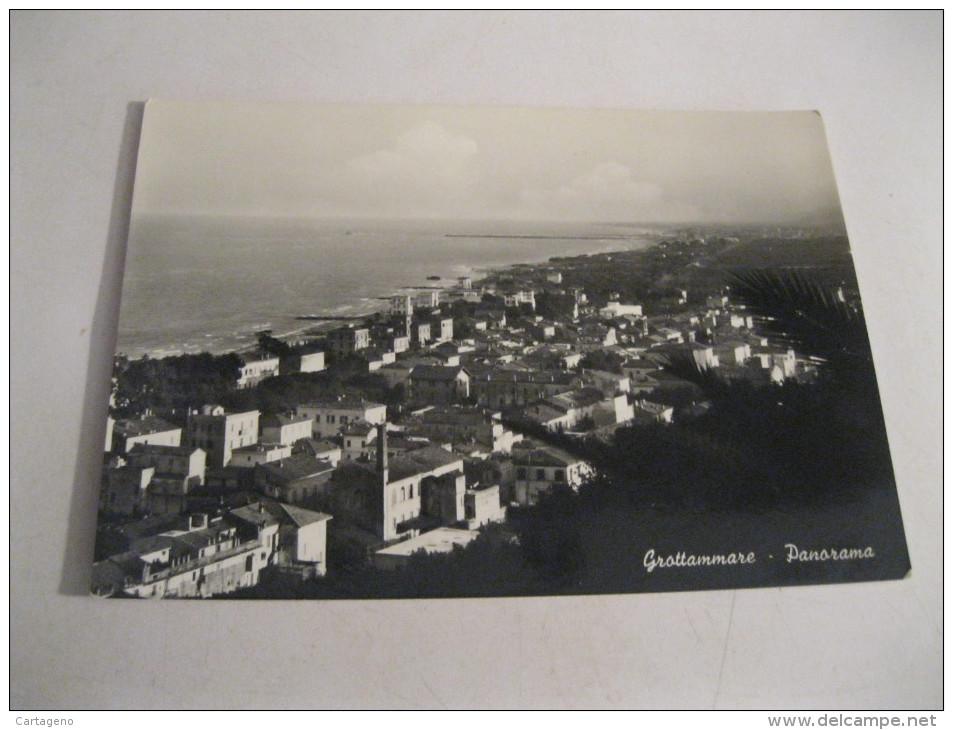 GROTTAMMARE  ( Ascoli Piceno)  Panorama  B/N Cartolina Viaggiata 1957 - Italia