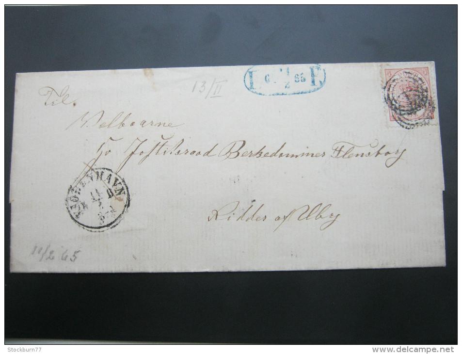 1865, Lokalbrief  Kopenhagen - Briefe U. Dokumente
