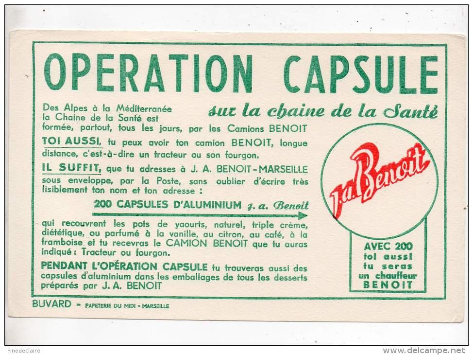 Buvard - Opération Capsule Sur La Chaine De La Santé - Buvards, Protège-cahiers Illustrés
