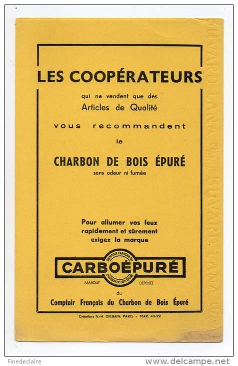 Buvard - Les Coopérateurs, Charbon De Bois épuré, Carboépuré - C