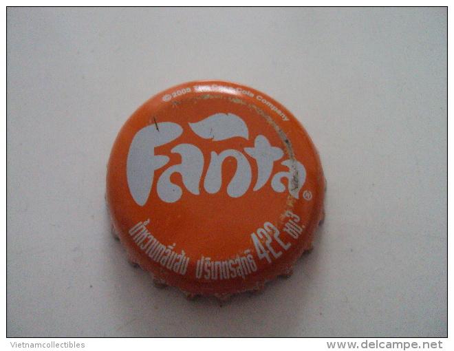 Cambodia Coca Cola Fanta Used Bottle Crown Cap / Kronkorken / Chapa / Tappi - Casquettes