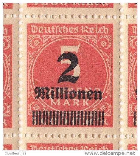 Halber Bogen Inflation 1923, Neu **,  Mit Schöner Abart. Nr Mi. 312 - Unused Stamps