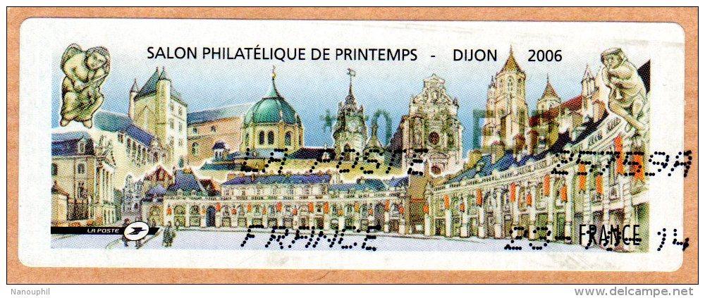 """VIGNETTE LISA    """" SALON Philatélique De Printemps 2006 """"  DIJON    0.03 Euros    (sur Fragment) - 2010-... Vignette Illustrate"""