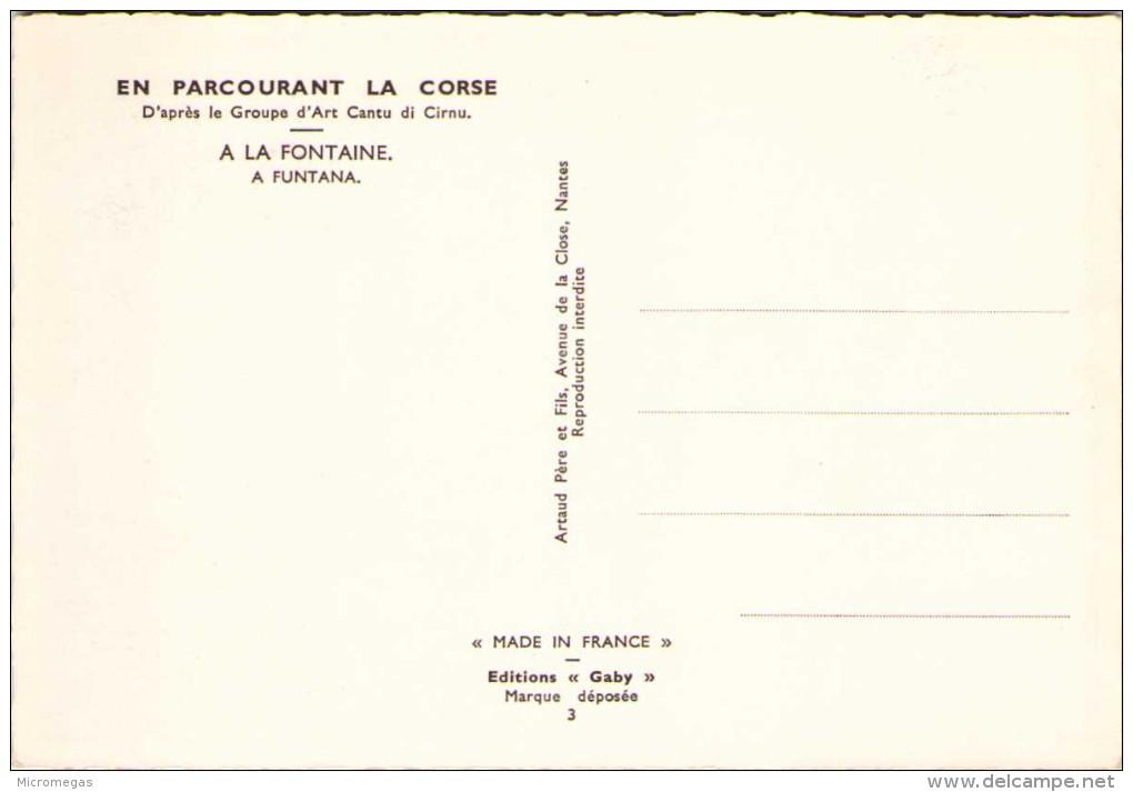 Illustrateur HOMUALK - En Parcourant La Corse - A La Fontaine - Homualk