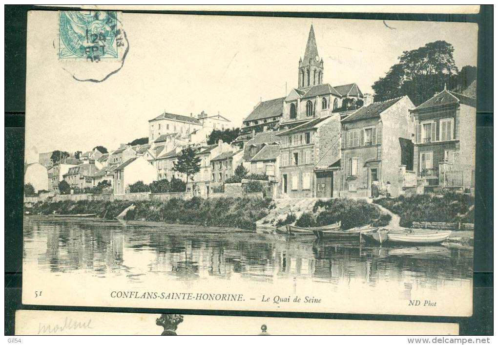 N°51  -  CONFLANS-SAINTE-HONORINE - Le Quai De Seine   Fab08 - Conflans Saint Honorine