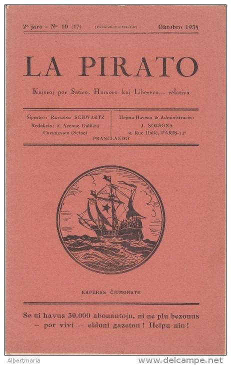 Magazine La Pirato In Esperanto From October 1934 - Revuo La Pirato De Oktobro 1934 - Boeken, Tijdschriften, Stripverhalen