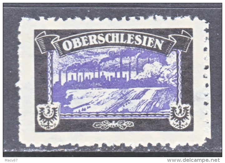 LOST COLONIES   MOURNING LABEL   OBERSCHLESIEN    ** - Germany