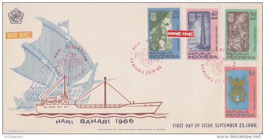 REPUBLIQUE INDONESIE  LOT DE DEUX ENVELOPPES 1964+1966 - Indonesia